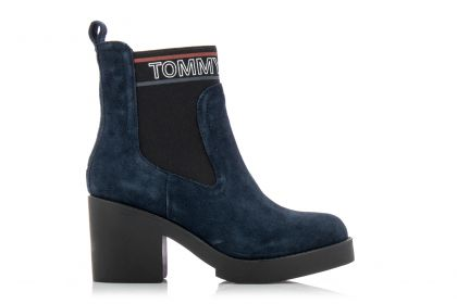 Дамски боти на ток TOMMY HILFIGER - n00629-midnight192