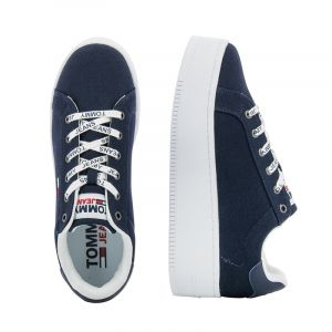 Дамски сникърс TOMMY HILFIGER - EN0EN01358C87 iconic essential flatform Twilight Navy