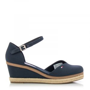 Дамски сандали на платформа TOMMY HILFIGER - FW0FW04787DW5 basic closed toe mid wedge Desert Sky