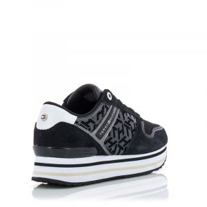 Дамски сникърс TOMMY HILFIGER - FW0FW05559BDS th metallic flatform sneaker Black