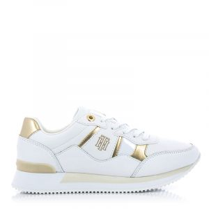 Дамски сникърс TOMMY HILFIGER - FW0FW05558YBR th interlock city sneaker White