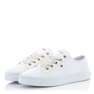 Мъжки гуменки TOMMY HILFIGER - FW0FW04848YBS essential nautical sneaker White