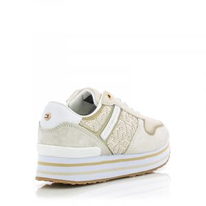 Дамски сникърс TOMMY HILFIGER - FW0FW05559AF2 th metallic flatform sneaker White Dove